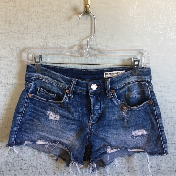 65c2cd82c1 Blank NYC Pants - Blank NYC Little Queenie Distressed Denim Shorts